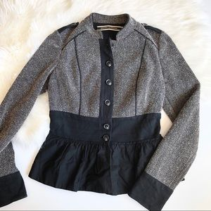 Daughters of the liberation jacket with ruffle